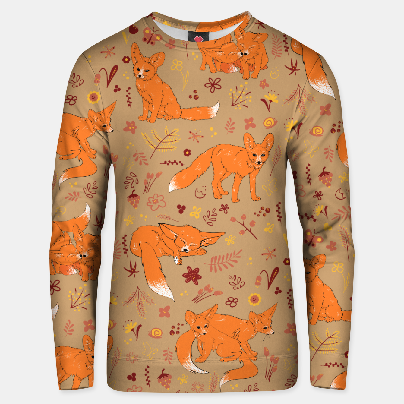 Foto Animals - Cute Foxes Unisex sweater - Live Heroes