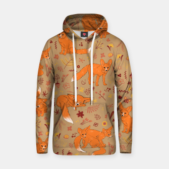 Animals - Cute Foxes Hoodie Bild der Miniatur
