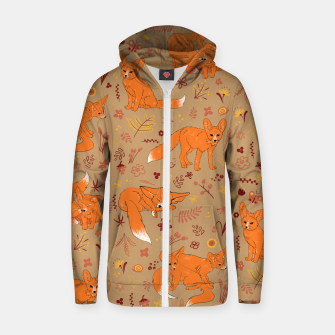 Thumbnail image of Animals - Cute Foxes Zip up hoodie, Live Heroes