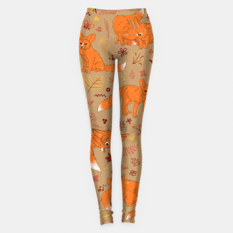 Miniatur Animals - Cute Foxes Leggings, Live Heroes