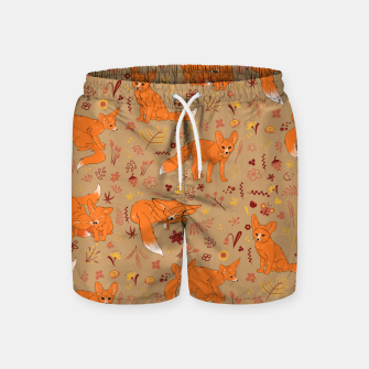 Animals - Cute Foxes Swim Shorts Bild der Miniatur