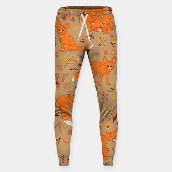 Animals - Cute Foxes Sweatpants Bild der Miniatur
