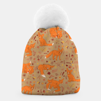 Animals - Cute Foxes Beanie Bild der Miniatur