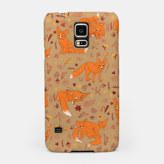 Miniatur Animals - Cute Foxes Samsung Case, Live Heroes