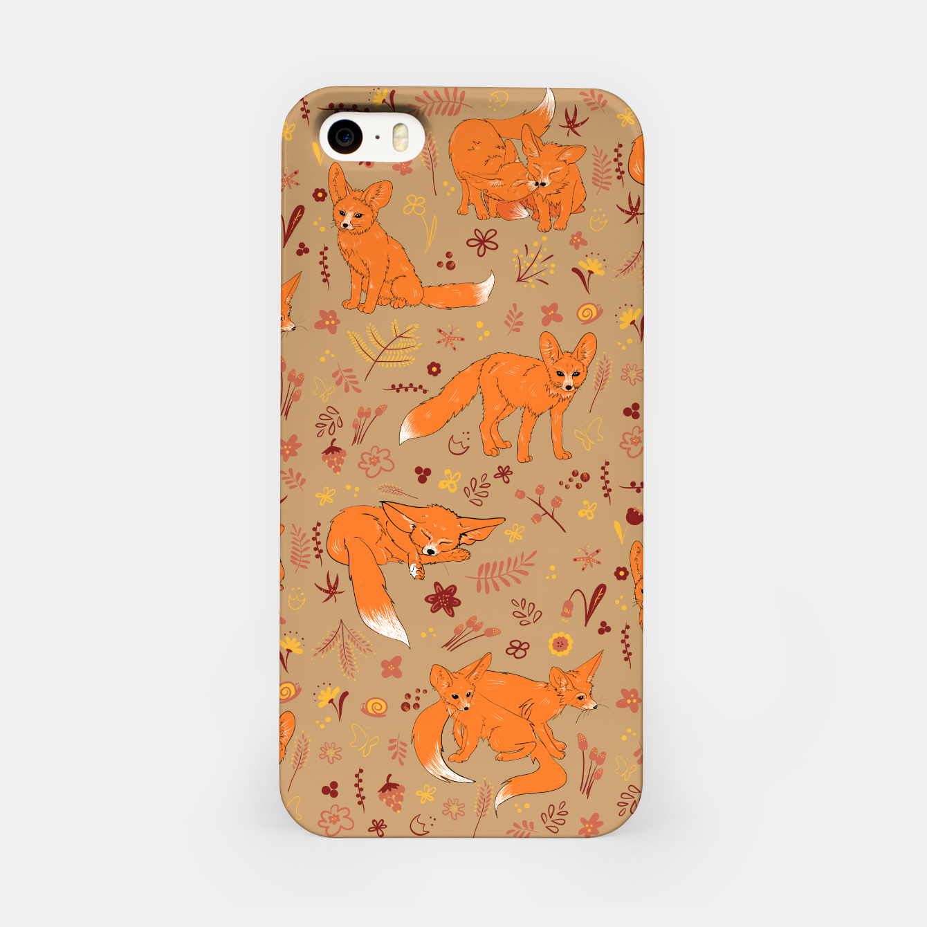 Foto Animals - Cute Foxes iPhone Case - Live Heroes