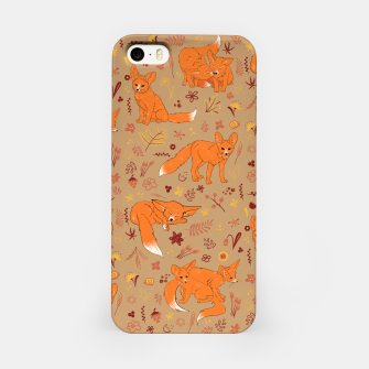 Animals - Cute Foxes iPhone Case Bild der Miniatur