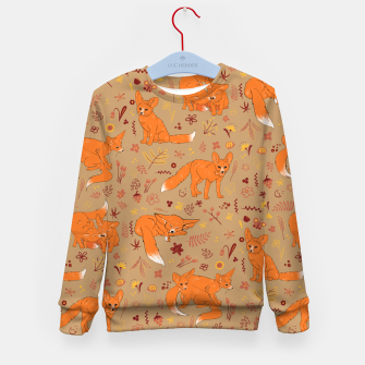 Animals - Cute Foxes Kid's sweater Bild der Miniatur