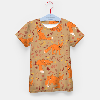 Animals - Cute Foxes Kid's t-shirt Bild der Miniatur