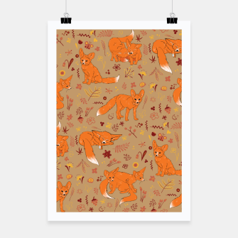 Animals - Cute Foxes Poster Bild der Miniatur