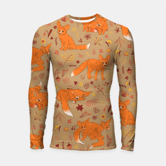 Thumbnail image of Animals - Cute Foxes Longsleeve rashguard , Live Heroes
