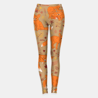 Animals - Cute Foxes Leggings Bild der Miniatur