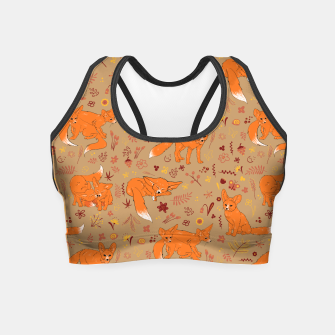 Animals - Cute Foxes Crop Top Bild der Miniatur