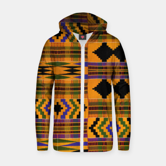 KENTE PATTERN 8 Zip up hoodie Bild der Miniatur