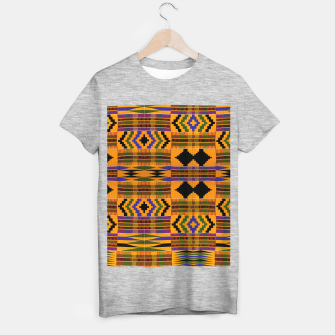 KENTE PATTERN 8 T-shirt regular Bild der Miniatur