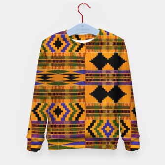 KENTE PATTERN 8 Kid's sweater Bild der Miniatur