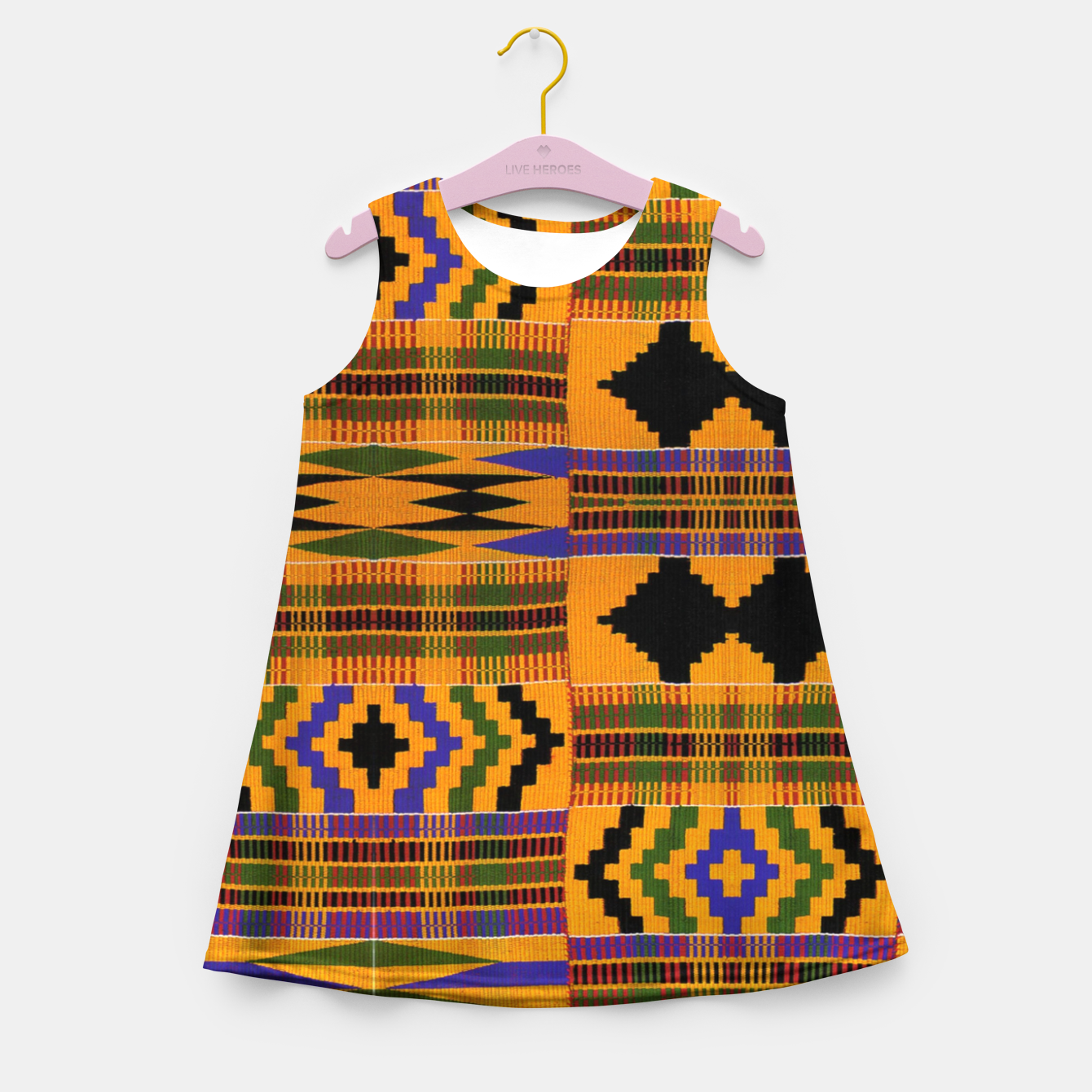 Foto KENTE PATTERN 8 Girl's summer dress - Live Heroes