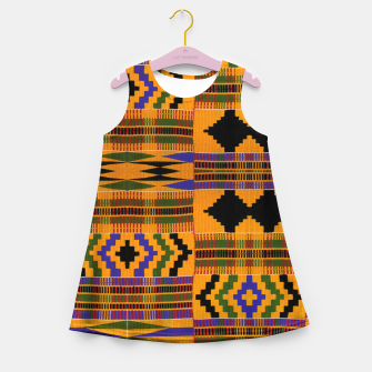 KENTE PATTERN 8 Girl's summer dress Bild der Miniatur