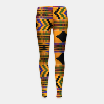 KENTE PATTERN 8 Girl's leggings Bild der Miniatur