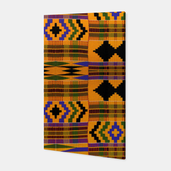 KENTE PATTERN 8 Canvas Bild der Miniatur