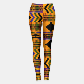 KENTE PATTERN 8 Leggings Bild der Miniatur