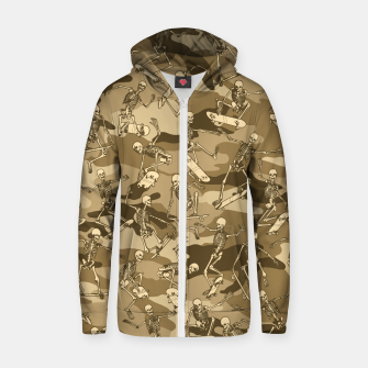 Thumbnail image of Grim Ripper Skater Camo DESERT Zip up hoodie, Live Heroes