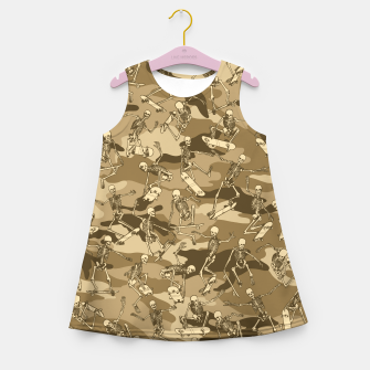 Grim Ripper Skater Camo DESERT Girl's summer dress thumbnail image