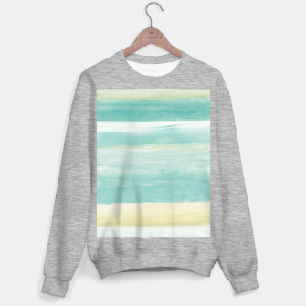 Watercolor Abstract Minimalism #1 #minimal #painting #decor #art  Sweatshirt regulär obraz miniatury