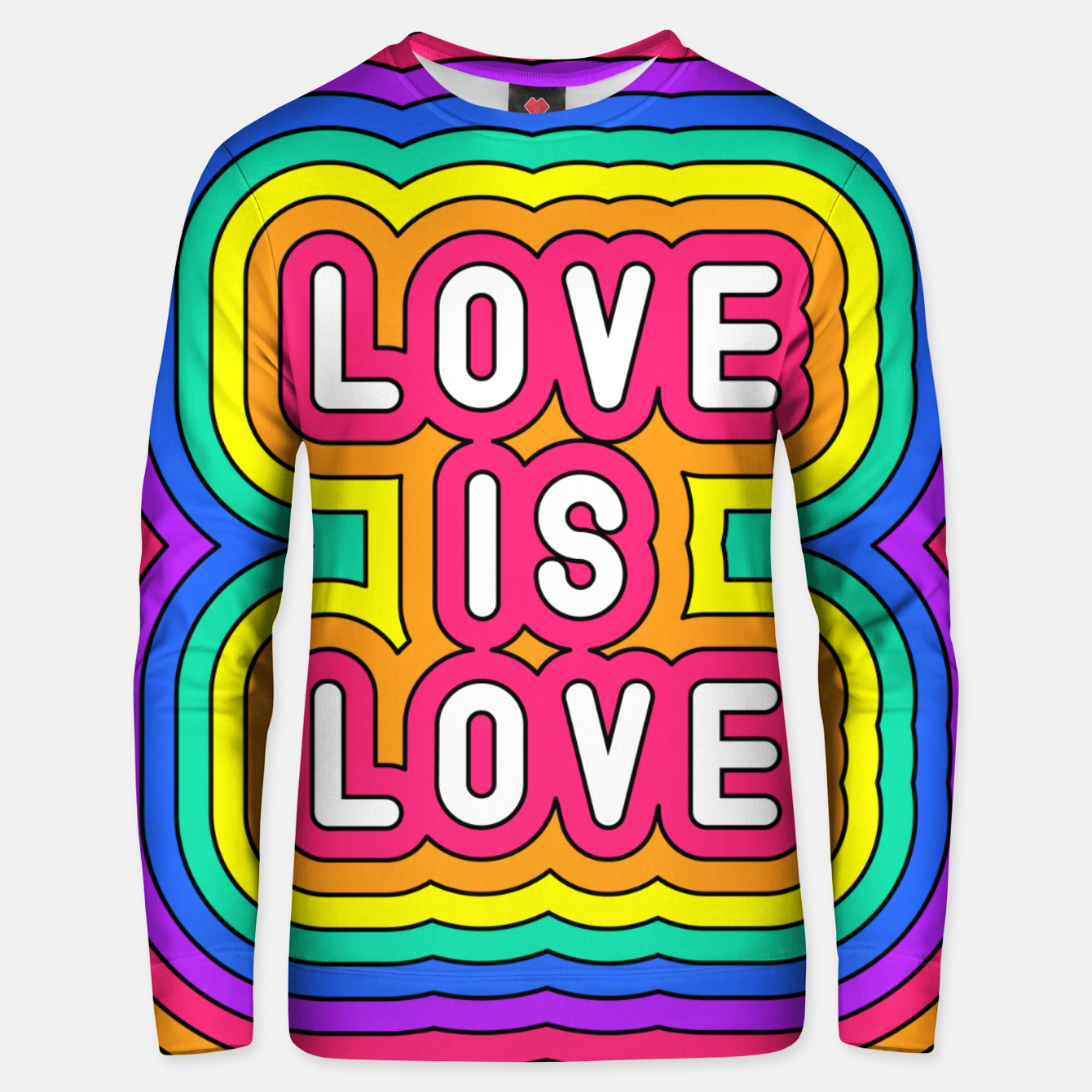 Foto Love is love Unisex sweater - Live Heroes