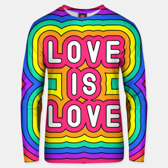Love is love Unisex sweater Bild der Miniatur