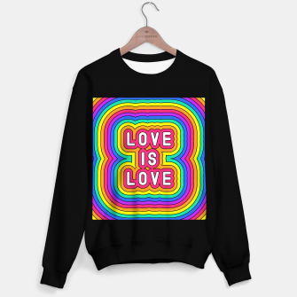 Love is love Sweater regular Bild der Miniatur