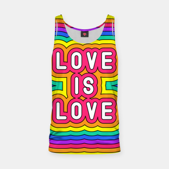 Miniatur Love is love Tank Top, Live Heroes
