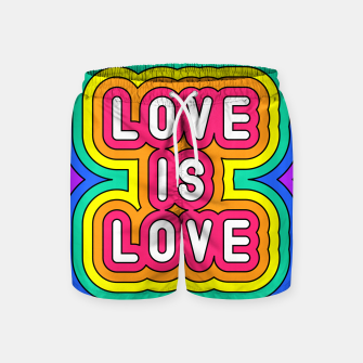 Love is love Swim Shorts Bild der Miniatur
