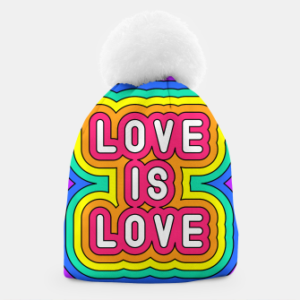 Love is love Beanie Bild der Miniatur