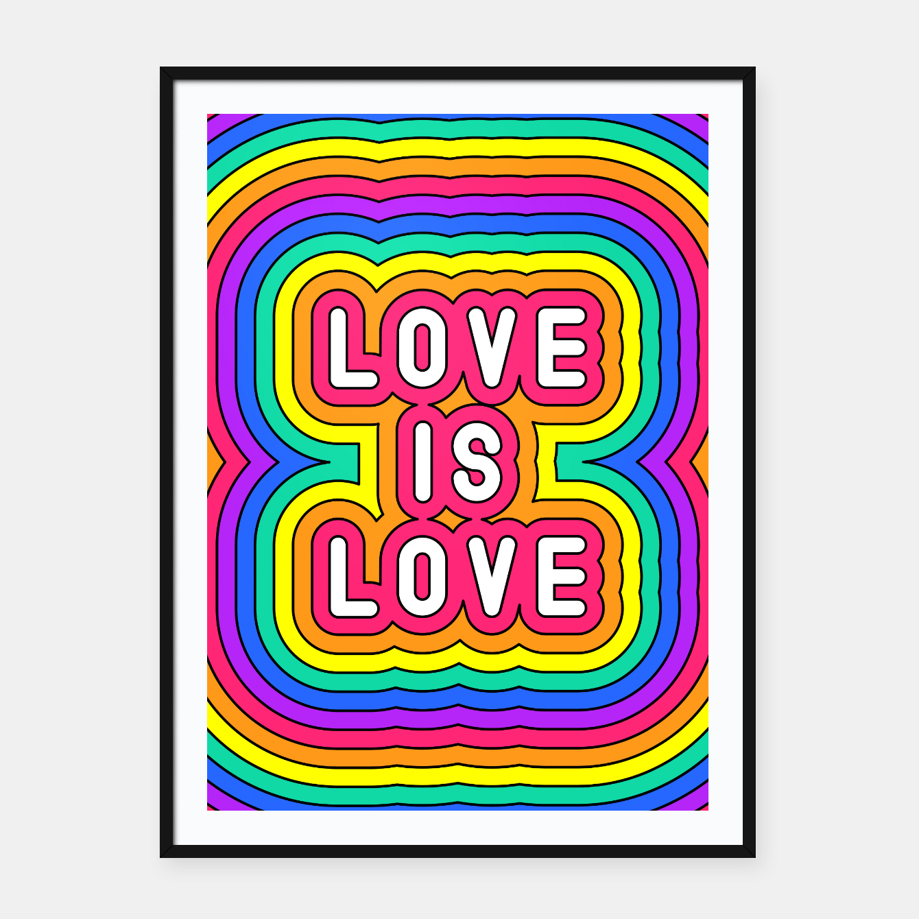 Foto Love is love Framed poster - Live Heroes