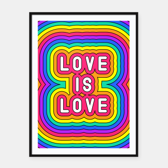 Love is love Framed poster Bild der Miniatur