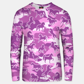 Thumbnail image of Horse Camo PINK Unisex sweater, Live Heroes