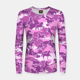 Thumbnail image of Horse Camo PINK Women sweater, Live Heroes