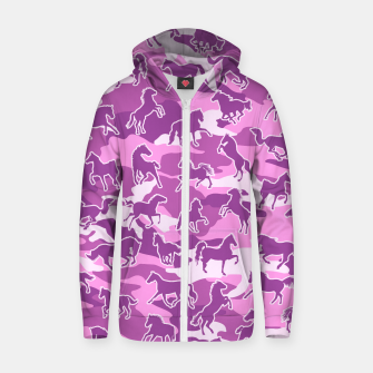 Thumbnail image of Horse Camo PINK Zip up hoodie, Live Heroes