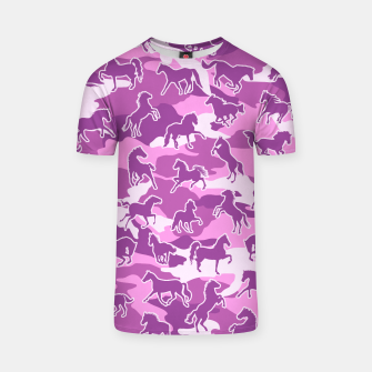 Thumbnail image of Horse Camo PINK T-shirt, Live Heroes