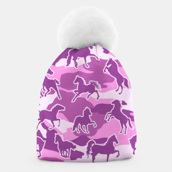 Thumbnail image of Horse Camo PINK Beanie, Live Heroes