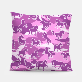 Thumbnail image of Horse Camo PINK Pillow, Live Heroes