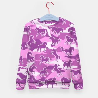 Thumbnail image of Horse Camo PINK Kid's sweater, Live Heroes