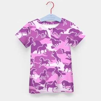 Thumbnail image of Horse Camo PINK Kid's t-shirt, Live Heroes