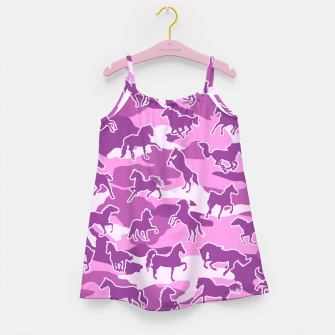 Thumbnail image of Horse Camo PINK Girl's dress, Live Heroes