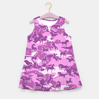 Thumbnail image of Horse Camo PINK Girl's summer dress, Live Heroes