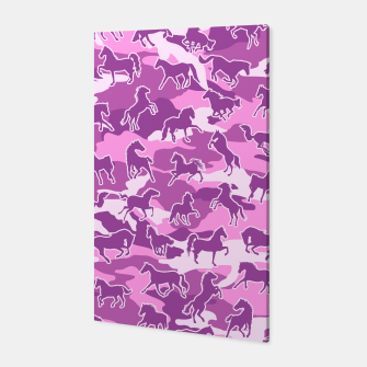 Thumbnail image of Horse Camo PINK Canvas, Live Heroes