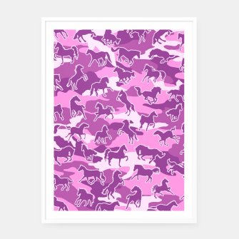 Thumbnail image of Horse Camo PINK Framed poster, Live Heroes