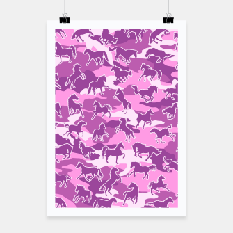 Thumbnail image of Horse Camo PINK Poster, Live Heroes