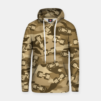 Thumbnail image of Dumbbell Gym Camo DESERT Hoodie, Live Heroes