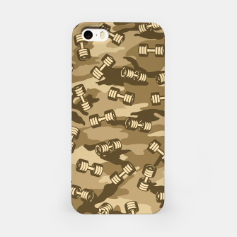Thumbnail image of Dumbbell Gym Camo DESERT iPhone Case, Live Heroes